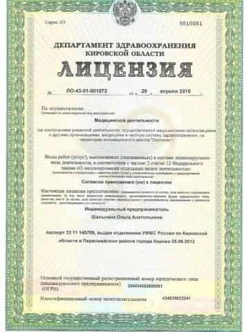 Лицензии Шалыгина 001